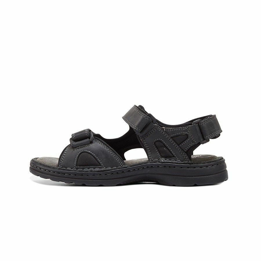 MENS-HUSH-PUPPIES-SIMMER-BROWN-GREYSTONE-GREY-SANDALS-LEATHER-SUMMER-SHOES thumbnail 4