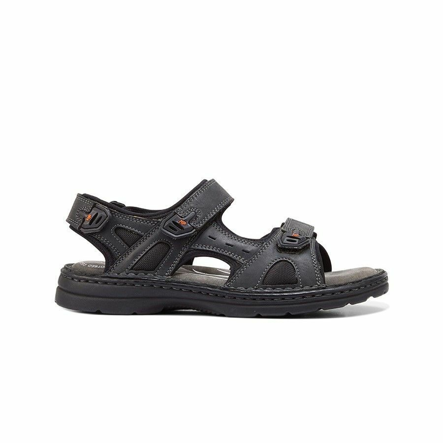 MENS-HUSH-PUPPIES-SIMMER-BROWN-GREYSTONE-GREY-SANDALS-LEATHER-SUMMER-SHOES thumbnail 6