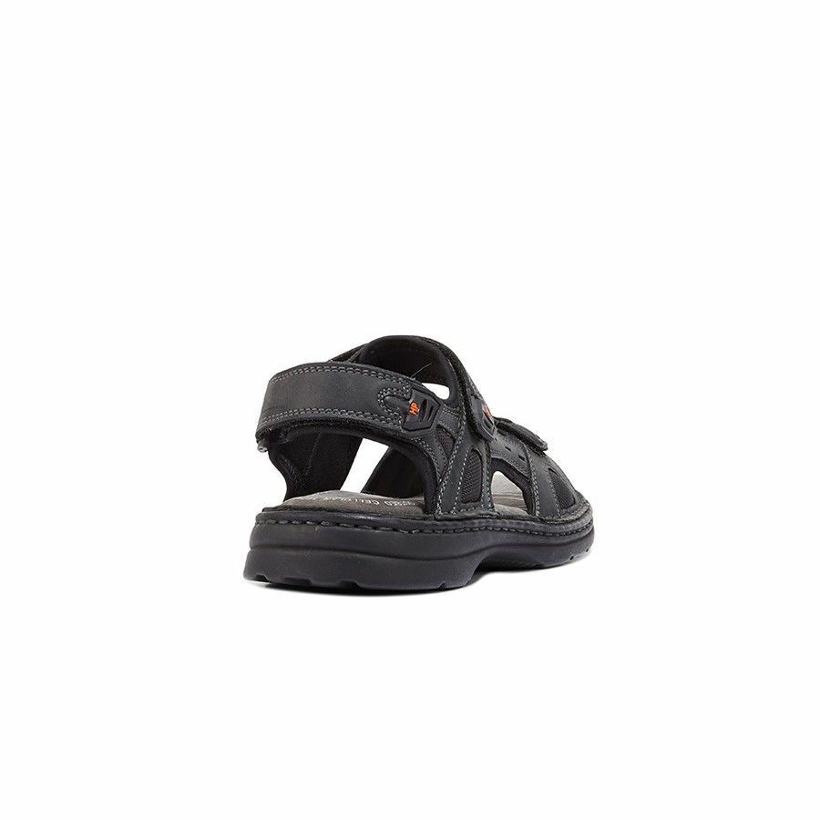 MENS-HUSH-PUPPIES-SIMMER-BROWN-GREYSTONE-GREY-SANDALS-LEATHER-SUMMER-SHOES thumbnail 5