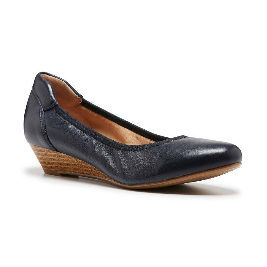 Hush Puppies Monica Black Womens Leather Shoe
