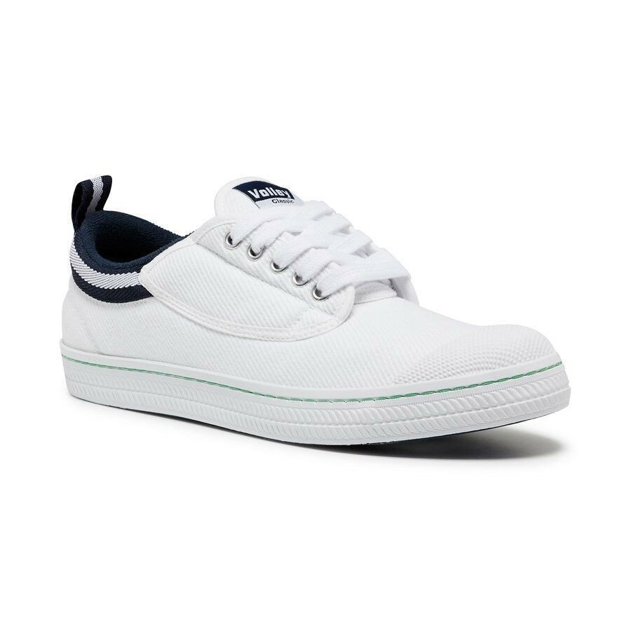 MENS-DUNLOP-CLASSIC-CANVAS-VOLLEYS-Volley-Sneakers-Casual-Shoes-BLACK-WHITE-SALE thumbnail 6