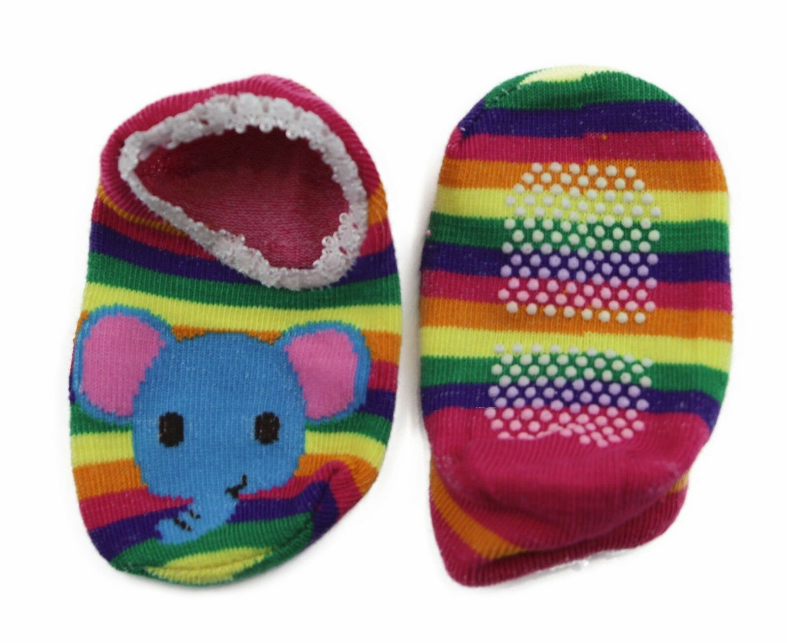 thumbnail 20 - Baby Footlets Kids Toddler Cotton Socks Anti Slip Grip Boys Girls 6-18 Months