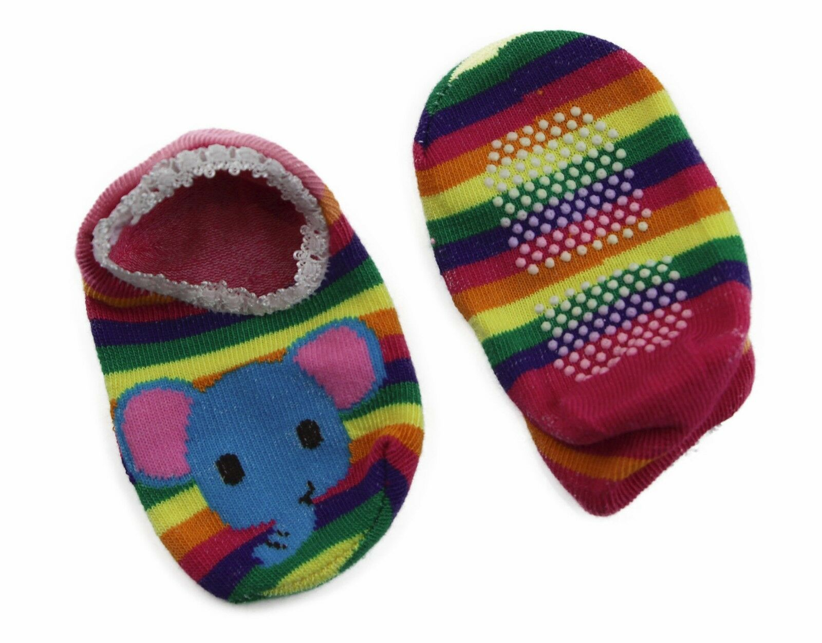 thumbnail 21 - Baby Footlets Kids Toddler Cotton Socks Anti Slip Grip Boys Girls 6-18 Months