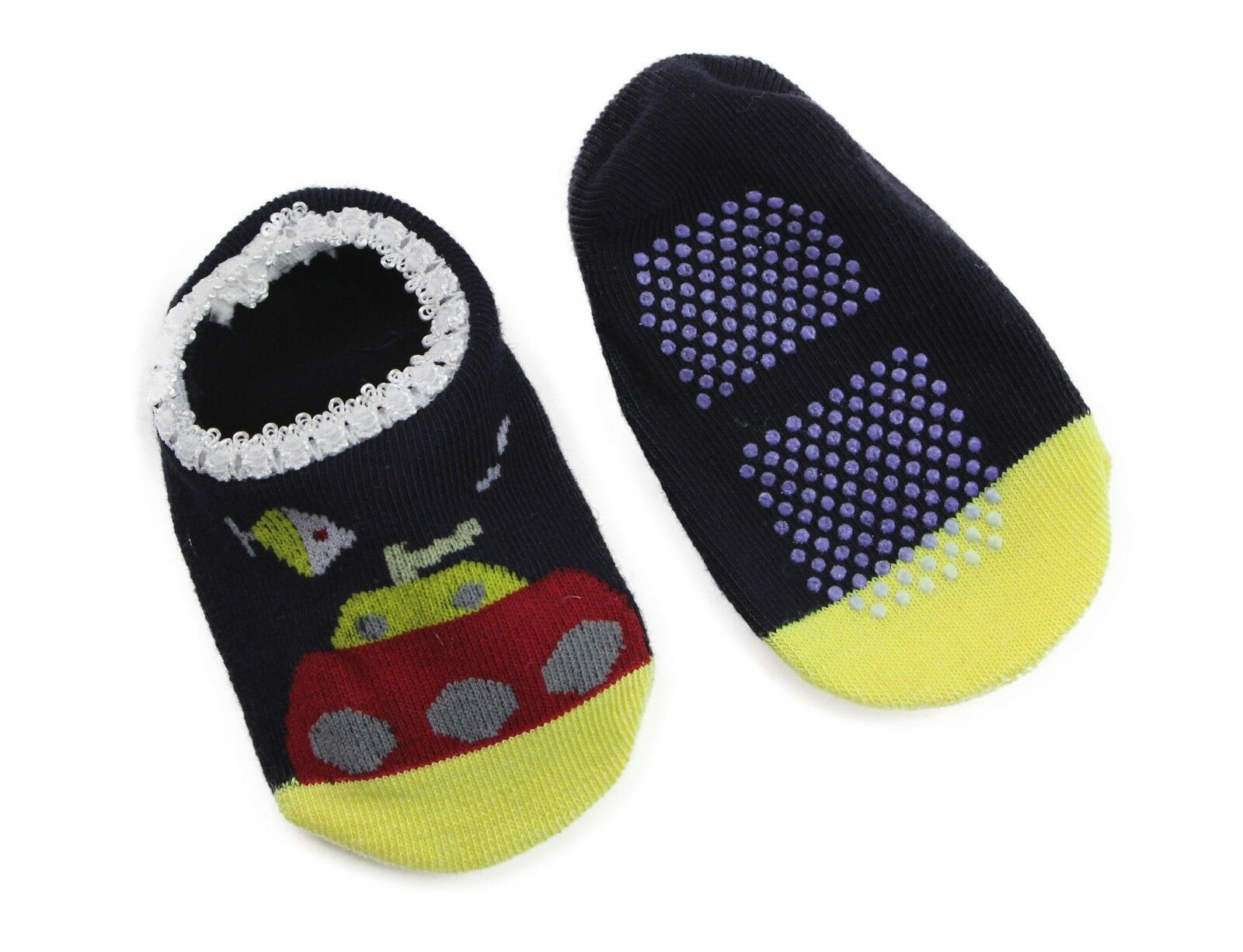 thumbnail 32 - Baby Footlets Kids Toddler Cotton Socks Anti Slip Grip Boys Girls 6-18 Months