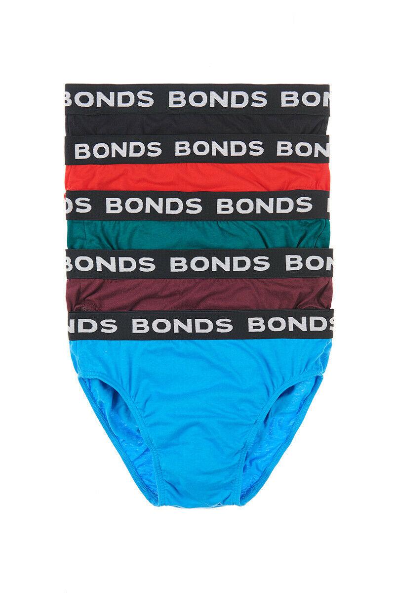Mens-BONDS-5-Pack-Pair-Hipster-Brief-Underwear-Men-039-s-Briefs-Size-TRACKING thumbnail 7