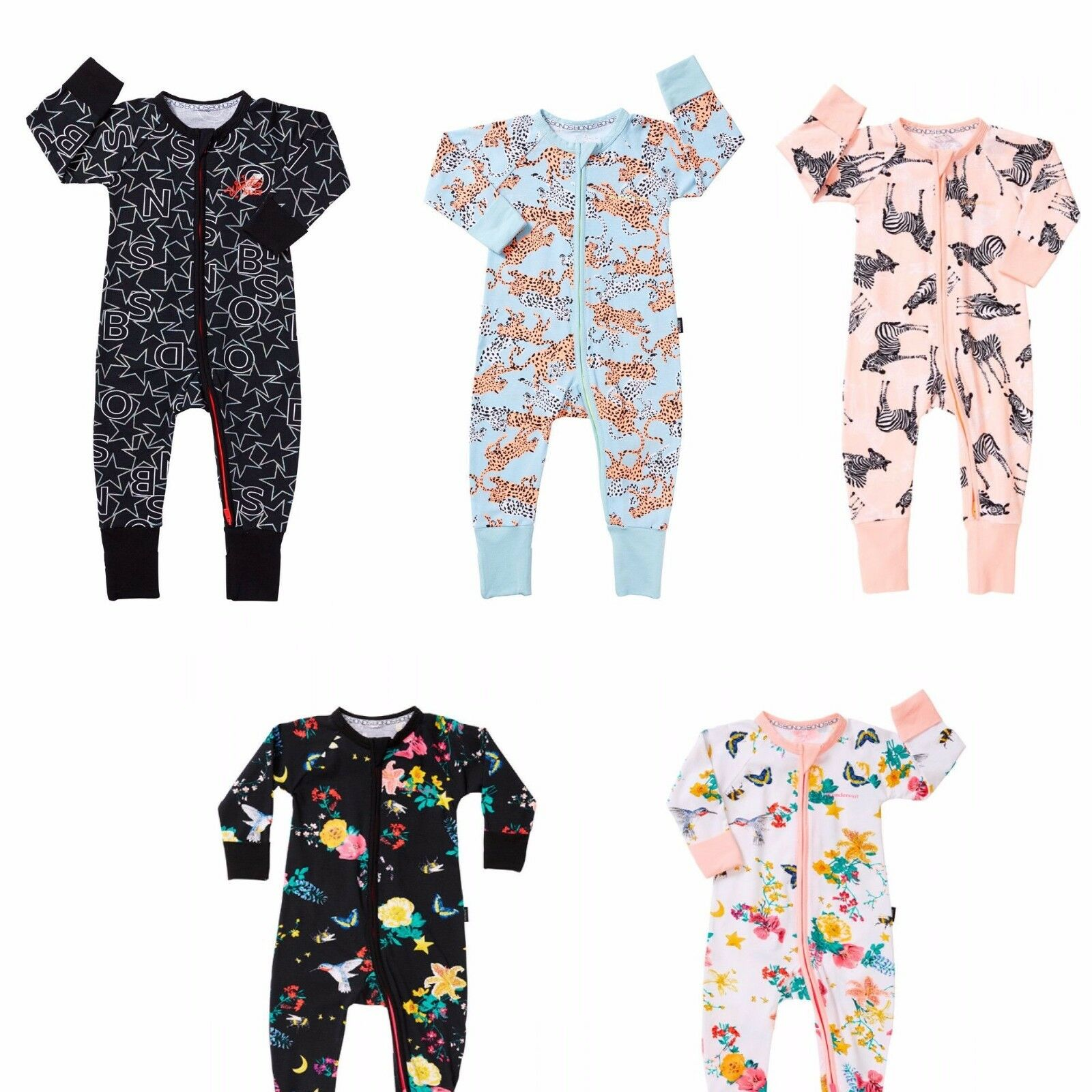 Bonds Baby Short Sleeve Zip Wondersuit Romper size 00 Colour Wave Catcher