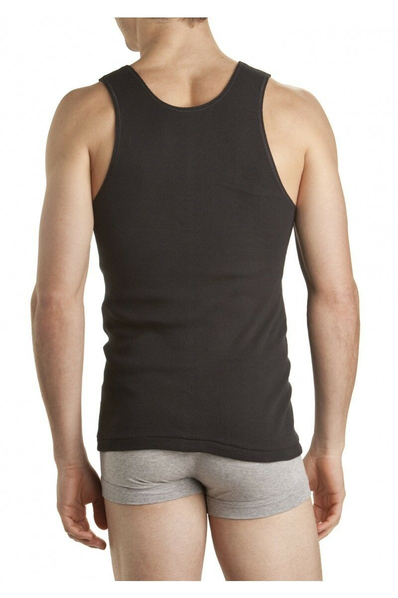 thumbnail 4 - Mens-BONDS-Chesty-Athletic-Cotton-Singlet-Tank-Top-White-Black-Grey-Navy