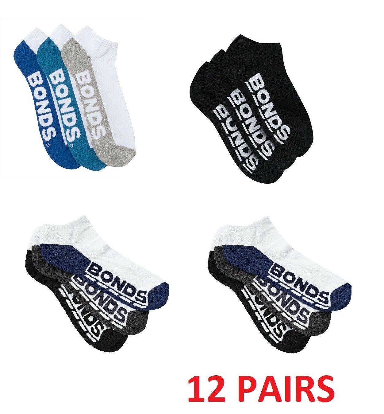 5 x BONDS MENS QUARTER CREW SOCKS Everyday Sport Running Sock Black White