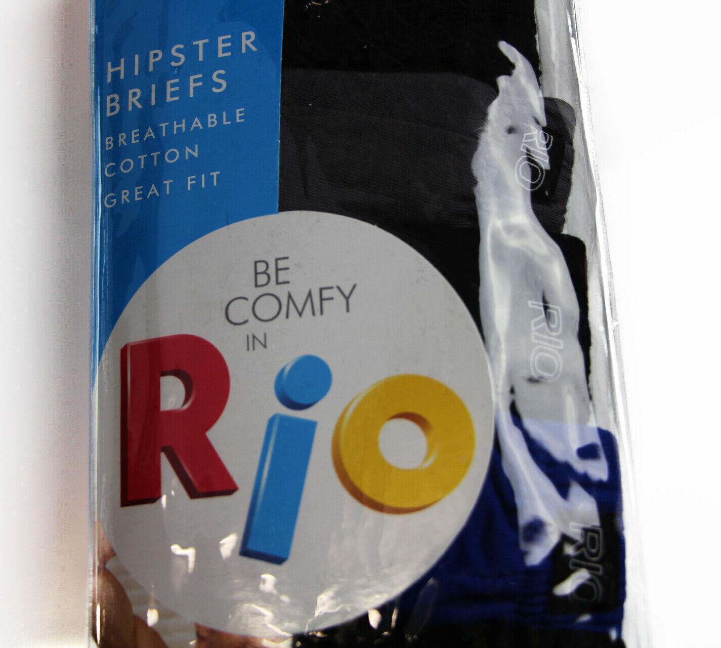 MENS-RIO-7-PACK-SEXY-HIPSTER-BIKINI-BRIEF-COTTON-UNDERWEAR-JOCKS-BLACK-BRIEFS thumbnail 5