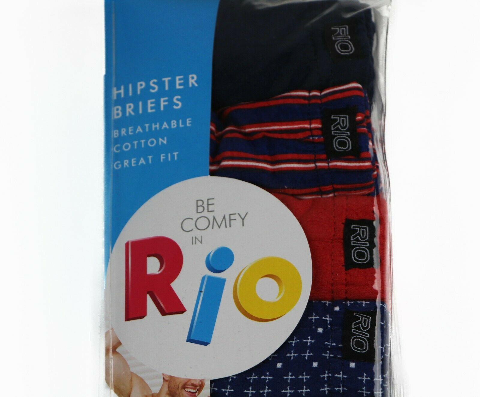MENS-RIO-7-PACK-SEXY-HIPSTER-BIKINI-BRIEF-COTTON-UNDERWEAR-JOCKS-BLACK-BRIEFS thumbnail 16