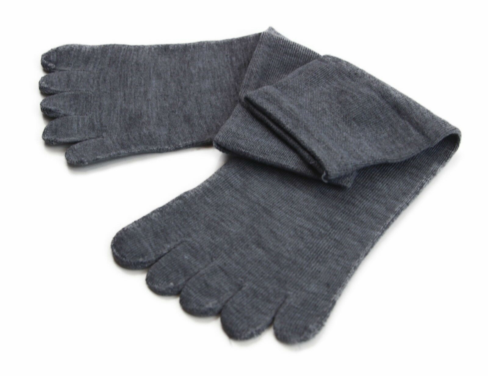 縮圖 9 - Toe Socks Premium Cotton Ankle Five Finger Socks Black Grey Brown Mens Womens