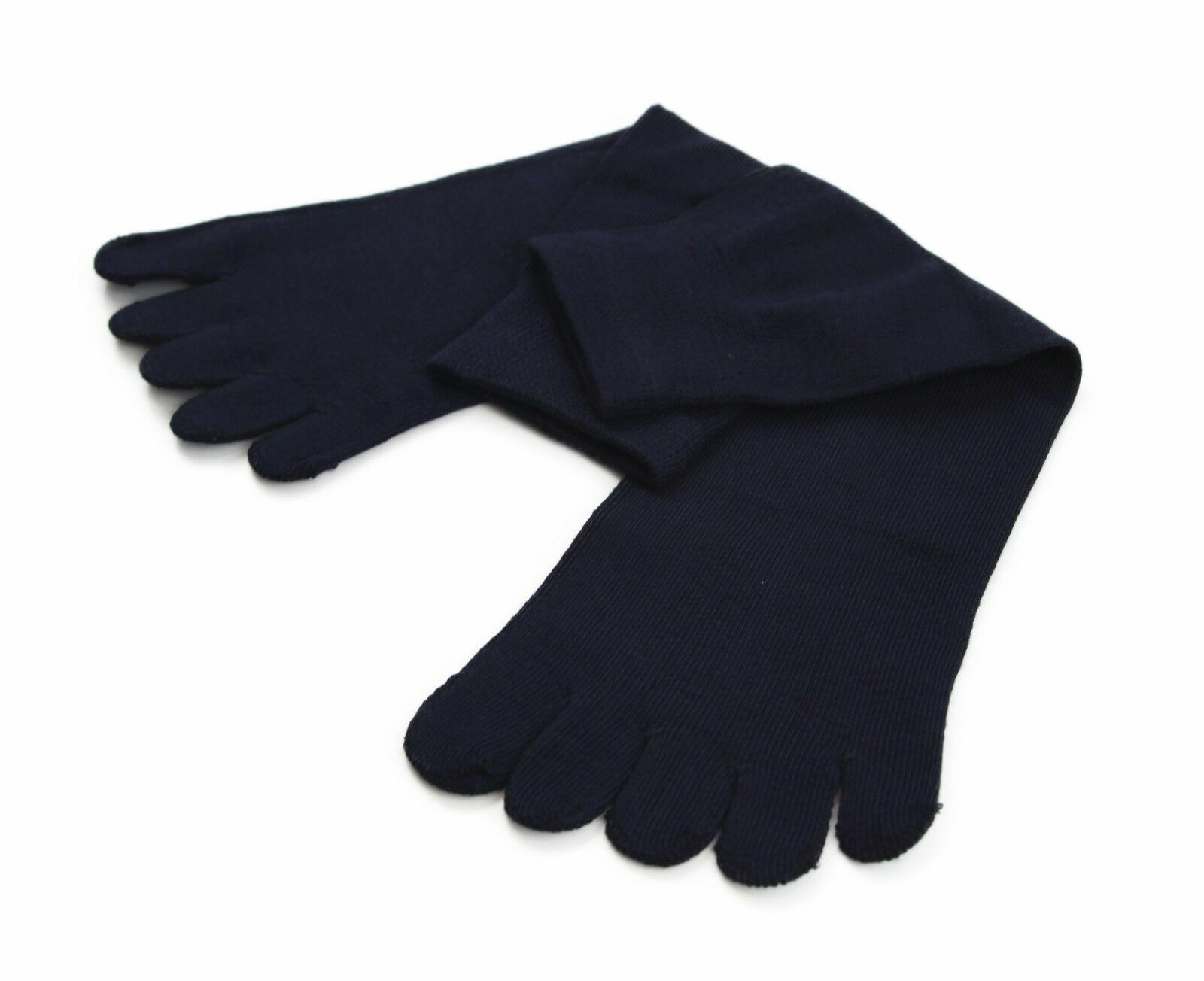 縮圖 11 - Toe Socks Premium Cotton Ankle Five Finger Socks Black Grey Brown Mens Womens