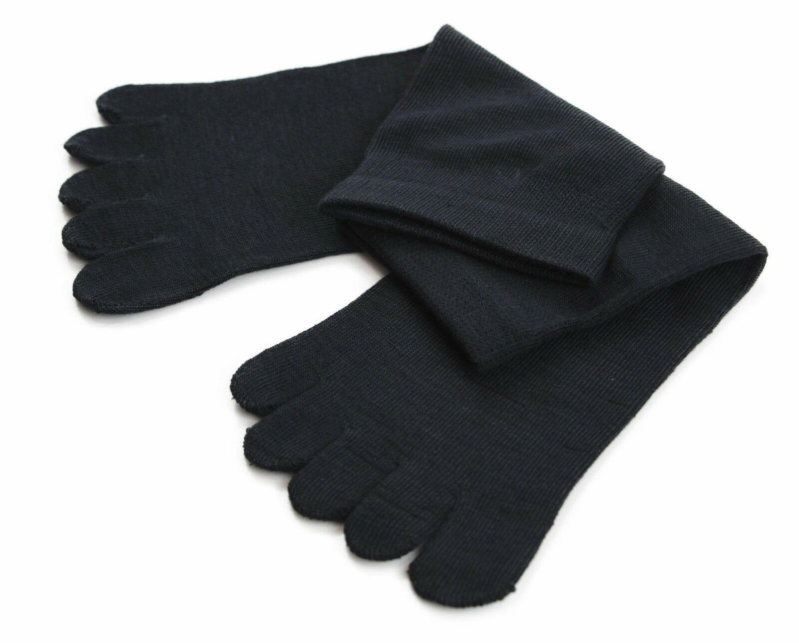 縮圖 5 - Toe Socks Premium Cotton Ankle Five Finger Socks Black Grey Brown Mens Womens