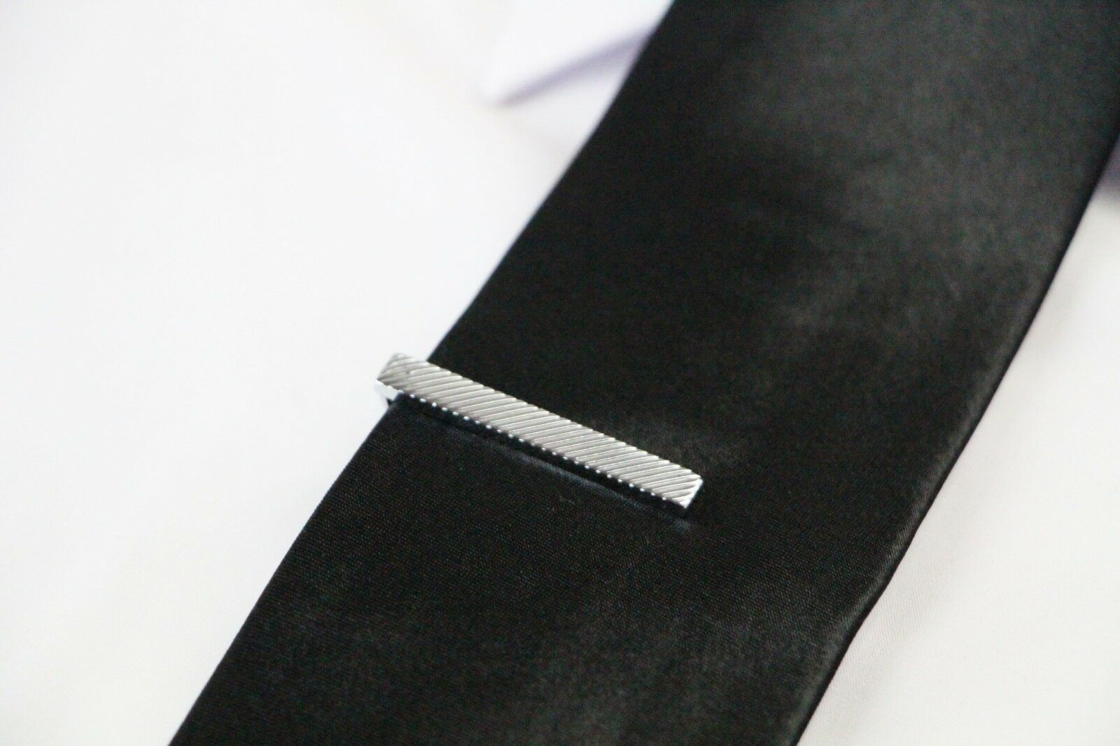 thumbnail 29 - TIE CLIP Mens Boys Stainless Steel Clasp Bar Wedding Neck Rose Silver Black Gold