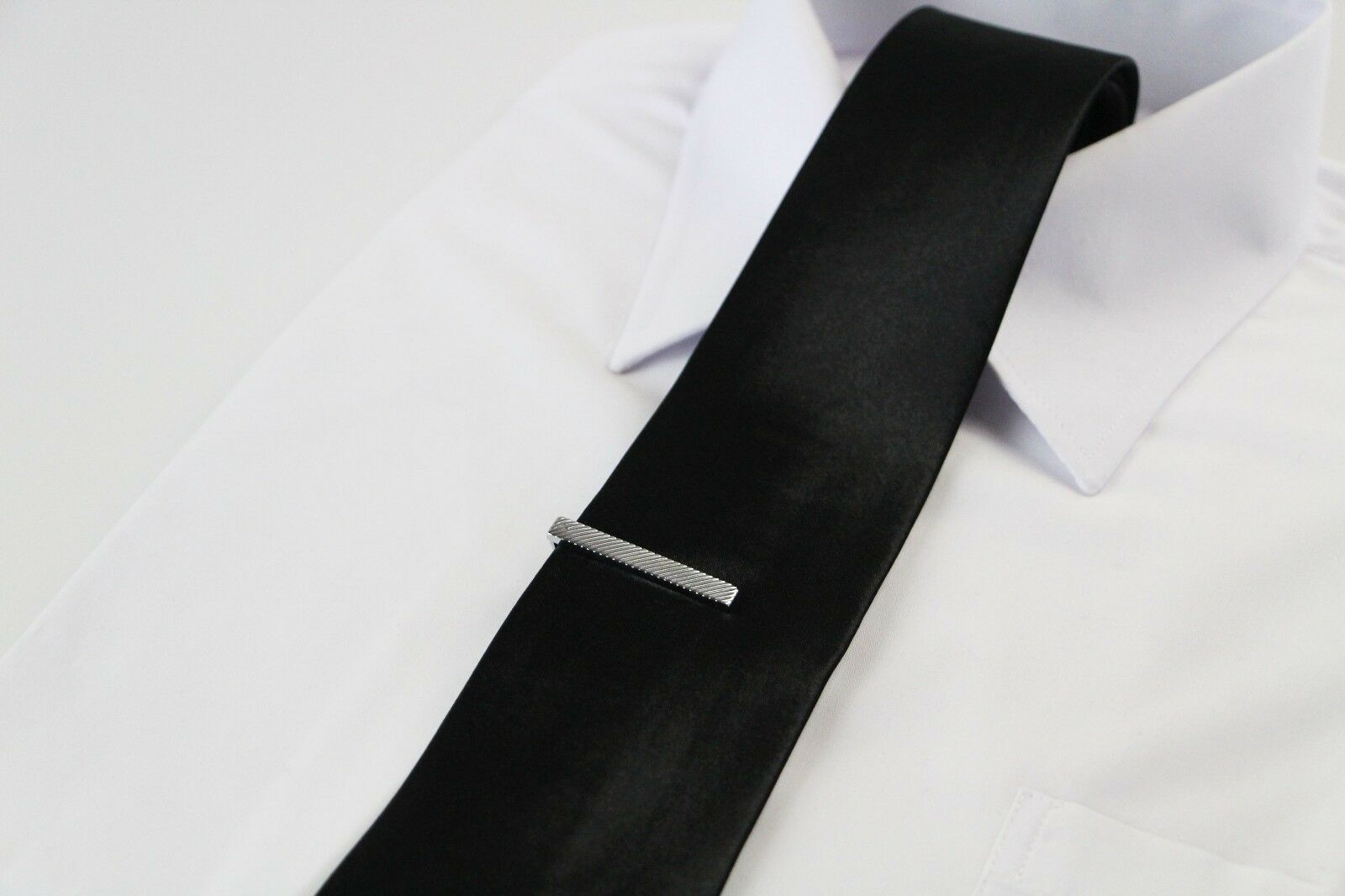 thumbnail 28 - TIE CLIP Mens Boys Stainless Steel Clasp Bar Wedding Neck Rose Silver Black Gold
