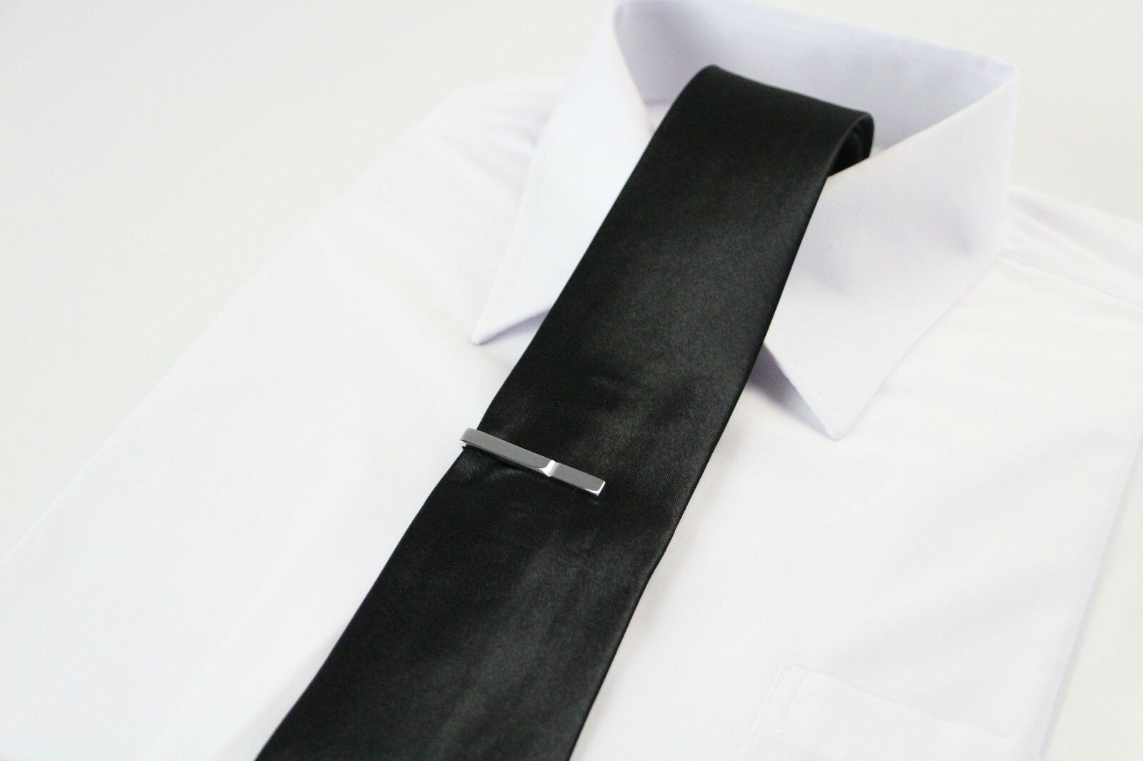thumbnail 45 - TIE CLIP Mens Boys Stainless Steel Clasp Bar Wedding Neck Rose Silver Black Gold