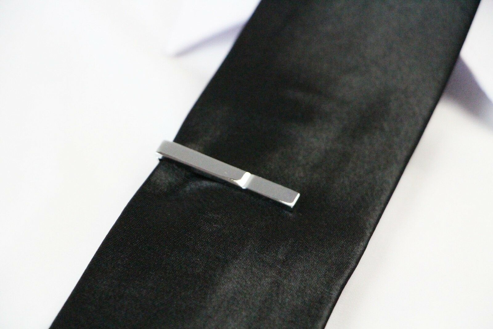 thumbnail 46 - TIE CLIP Mens Boys Stainless Steel Clasp Bar Wedding Neck Rose Silver Black Gold