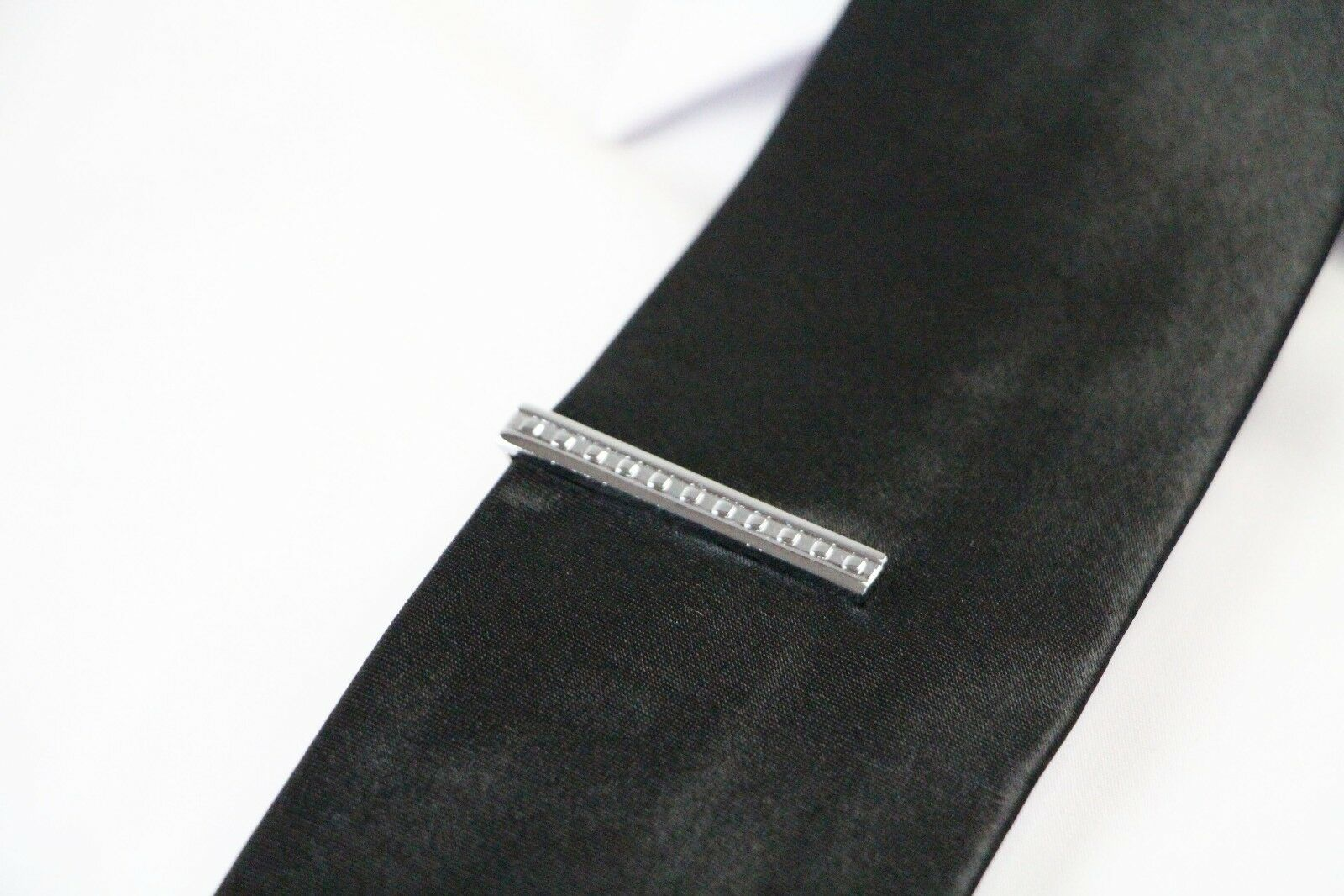 thumbnail 43 - TIE CLIP Mens Boys Stainless Steel Clasp Bar Wedding Neck Rose Silver Black Gold