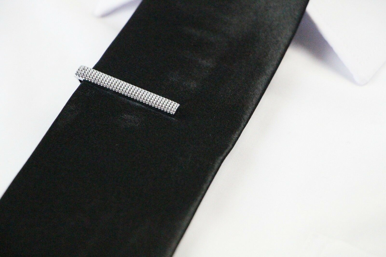 thumbnail 38 - TIE CLIP Mens Boys Stainless Steel Clasp Bar Wedding Neck Rose Silver Black Gold