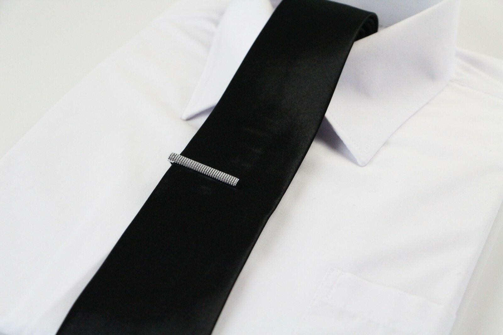 thumbnail 37 - TIE CLIP Mens Boys Stainless Steel Clasp Bar Wedding Neck Rose Silver Black Gold