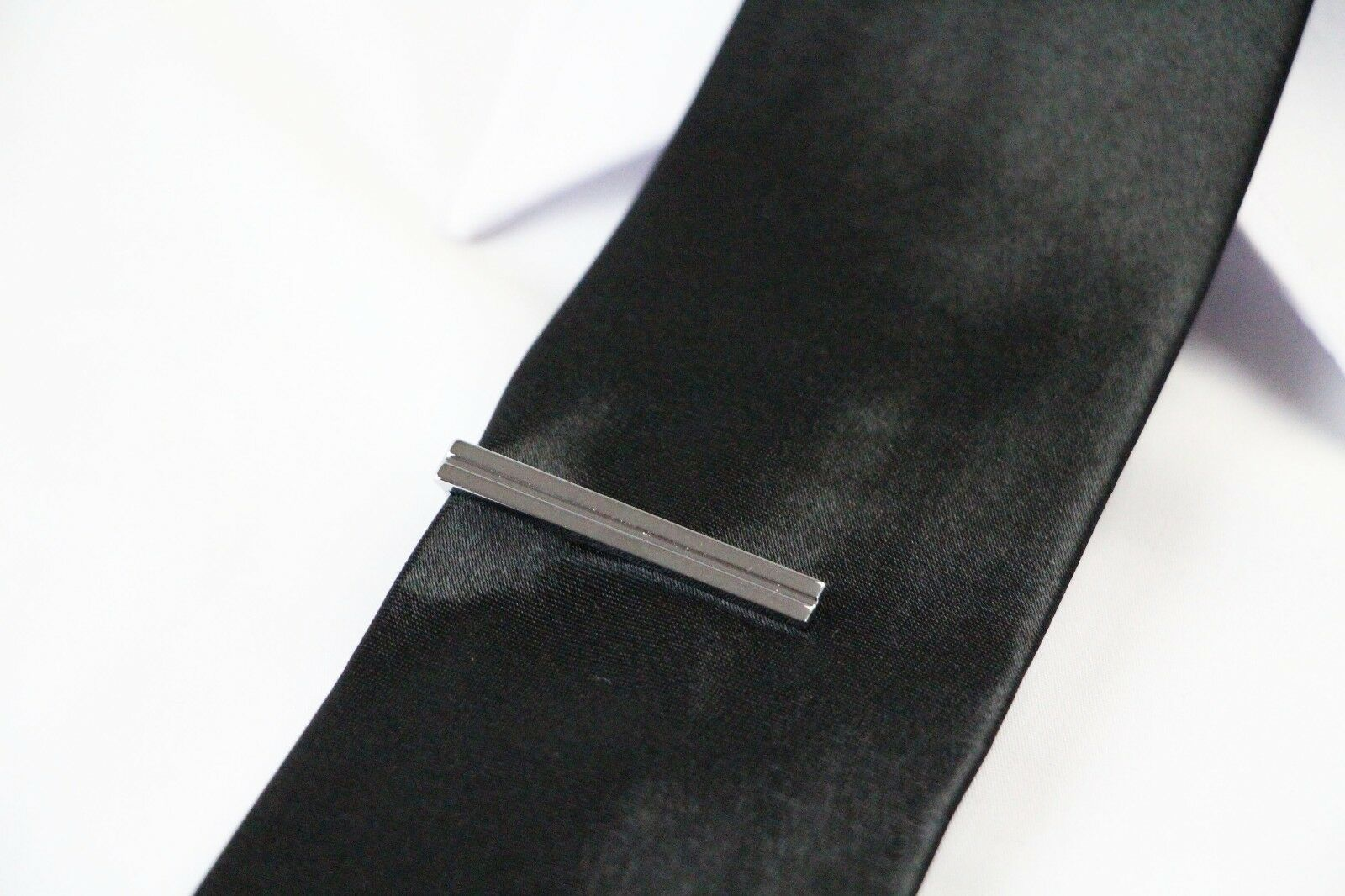 thumbnail 40 - TIE CLIP Mens Boys Stainless Steel Clasp Bar Wedding Neck Rose Silver Black Gold