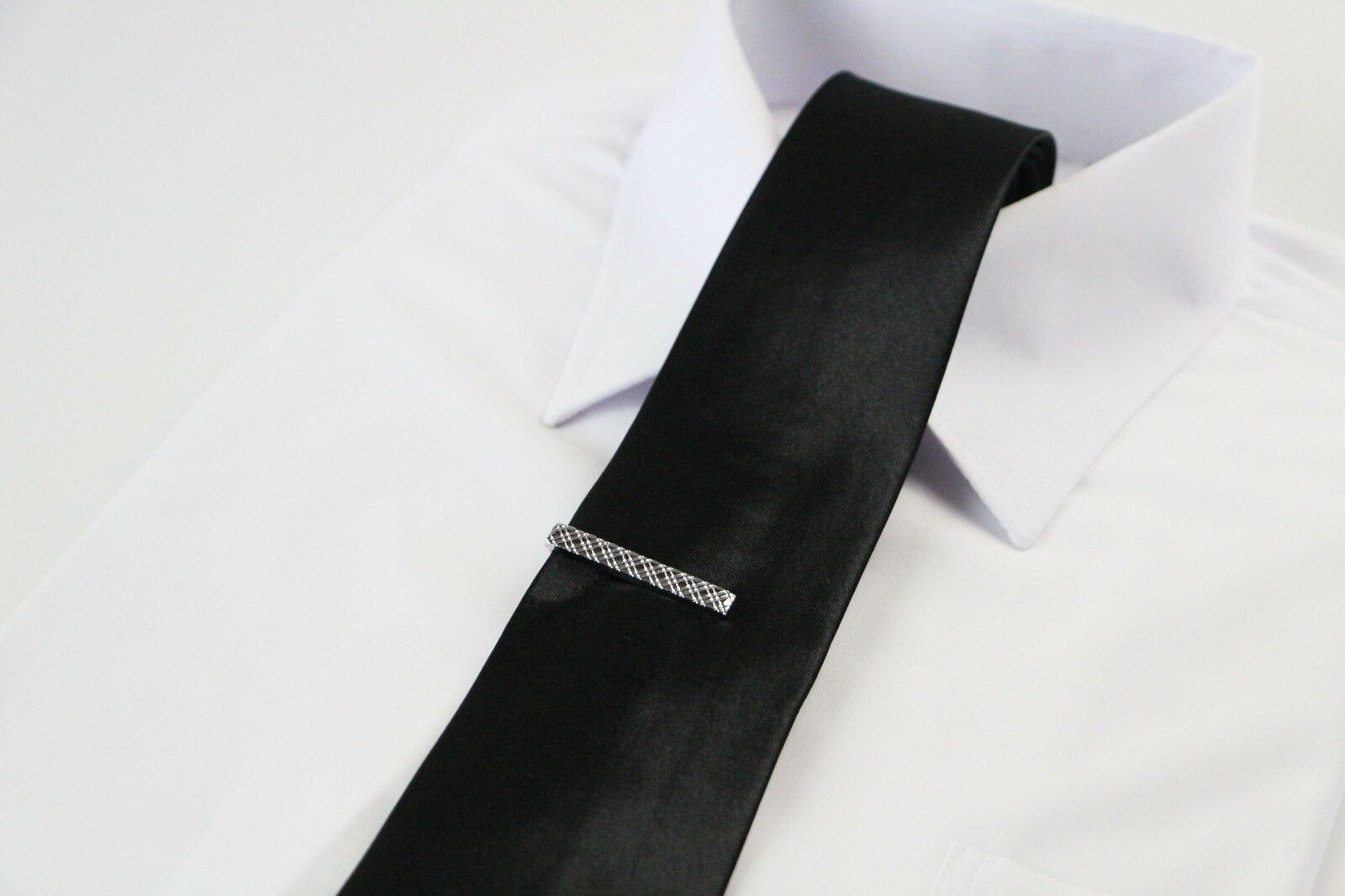 thumbnail 25 - TIE CLIP Mens Boys Stainless Steel Clasp Bar Wedding Neck Rose Silver Black Gold