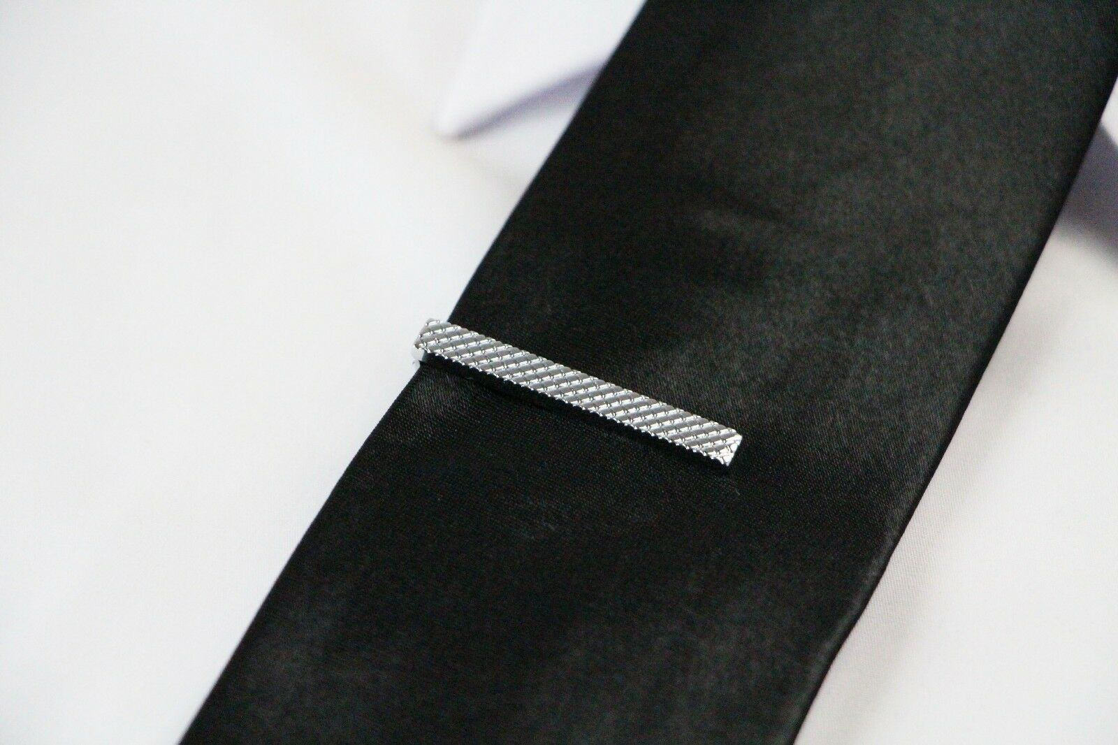 thumbnail 32 - TIE CLIP Mens Boys Stainless Steel Clasp Bar Wedding Neck Rose Silver Black Gold