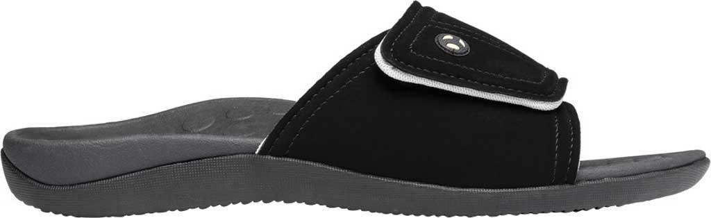 Vionic Kiwi Slide, Black/Grey Synthetic Nubuck, large, image 2