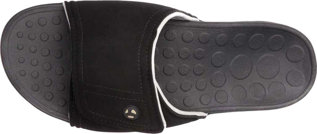 Vionic Kiwi Slide, Black/Grey Synthetic Nubuck, large, image 6