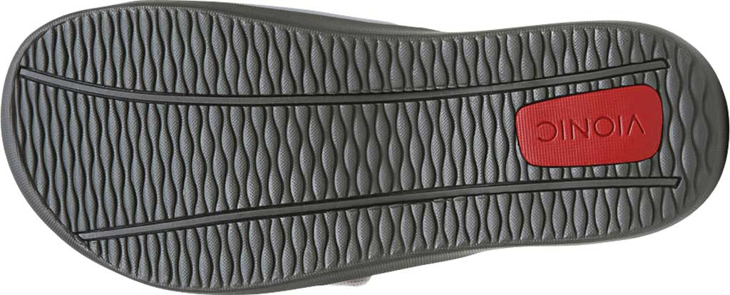 Vionic Kiwi Slide, Black/Grey Synthetic Nubuck, large, image 7