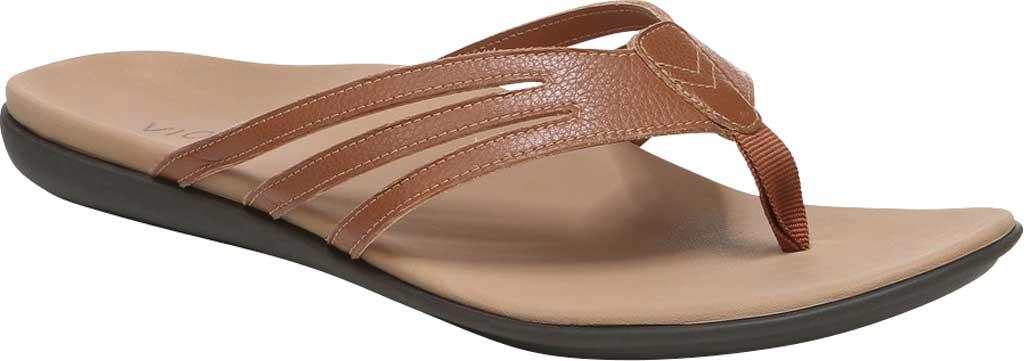 Women's Vionic Alta Thong Sandal, Espresso Leather, large, image 1