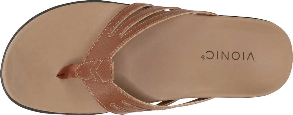 Women's Vionic Alta Thong Sandal, Espresso Leather, large, image 5