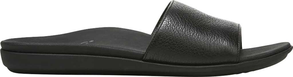 Women's Vionic Val Slide, Black Leather, large, image 2