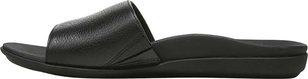 Women's Vionic Val Slide, Black Leather, large, image 3