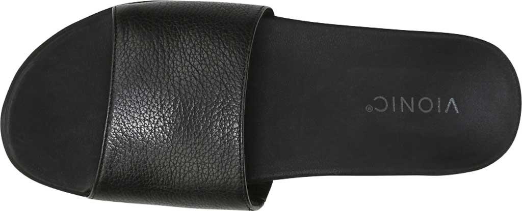 Women's Vionic Val Slide, Black Leather, large, image 5