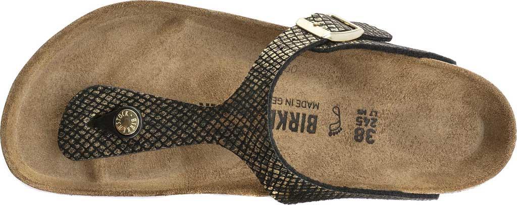 Women's Birkenstock Gizeh Thong Sandal, Shiny Python Black Microfiber, large, image 5