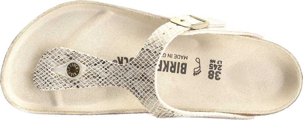 Women's Birkenstock Gizeh Thong Sandal, Shiny Python Eggshell Microfiber, large, image 5