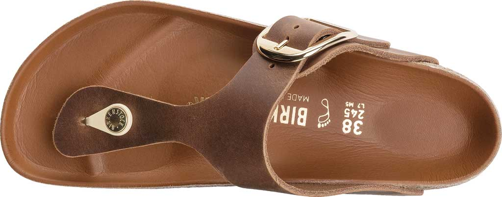Women's Birkenstock Gizeh Big Buckle Thong Sandal, Cognac Leather, large, image 3