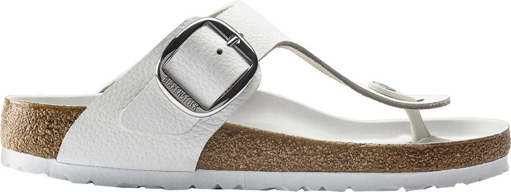 Women's Birkenstock Gizeh Big Buckle Thong Sandal, White Leather, large, image 2