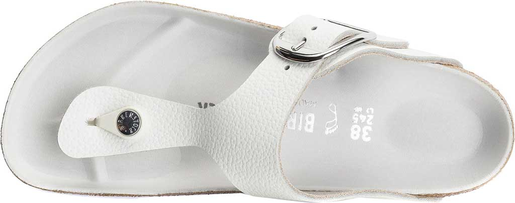 Women's Birkenstock Gizeh Big Buckle Thong Sandal, White Leather, large, image 3