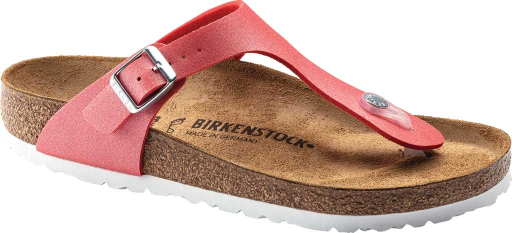 Women's Birkenstock Gizeh Thong Sandal, Icy Metallic Poppy Birko-Flor, large, image 1