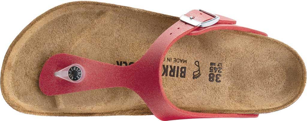 Women's Birkenstock Gizeh Thong Sandal, Icy Metallic Poppy Birko-Flor, large, image 5