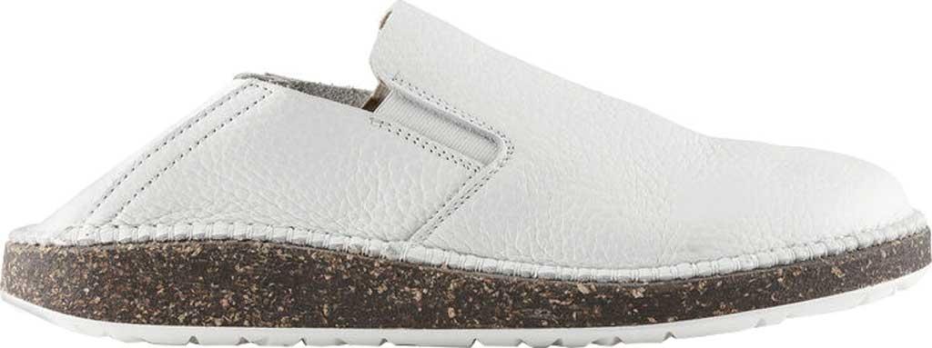 Women's Birkenstock Callan Convertible Slip-On, White Pebbled Leather, large, image 2