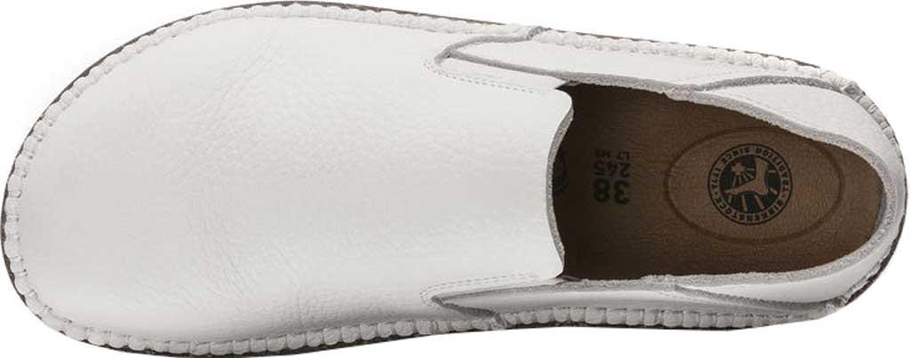Women's Birkenstock Callan Convertible Slip-On, White Pebbled Leather, large, image 3
