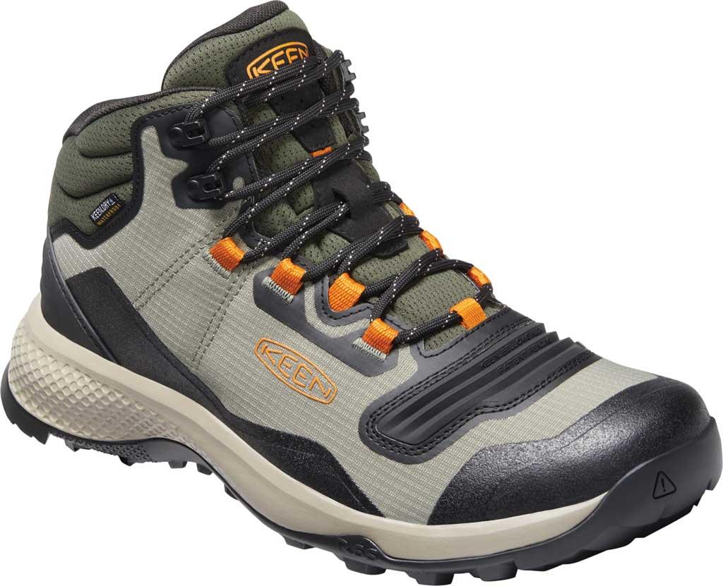Men's Keen Tempo Flex Mid Waterproof Hiking Boot, Vetiver/Desert Sun, large, image 1
