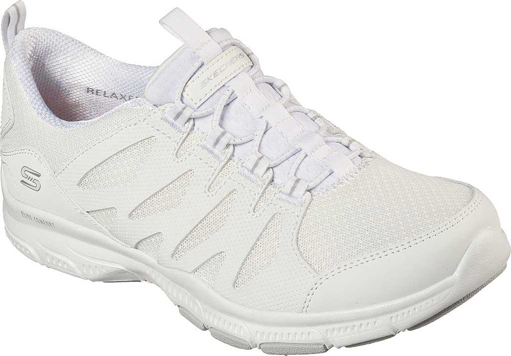 Women's Skechers Relaxed Fit Gratis Gratitude Slip On Sneaker, White, large, image 1
