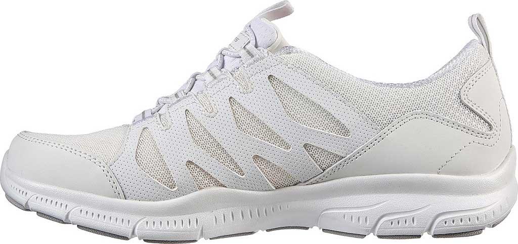 Women's Skechers Relaxed Fit Gratis Gratitude Slip On Sneaker, White, large, image 3