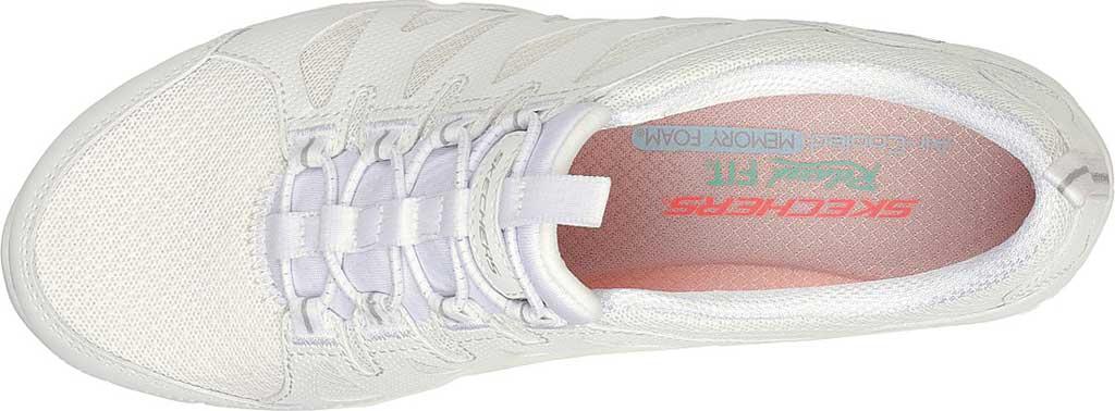 Women's Skechers Relaxed Fit Gratis Gratitude Slip On Sneaker, White, large, image 4
