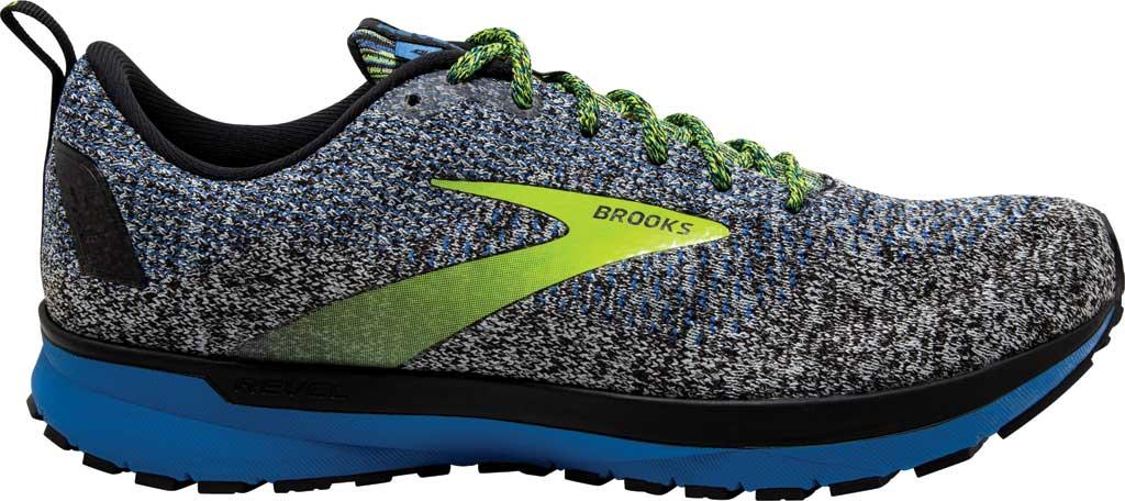 Men's Brooks Revel 4 Running Shoe, Black/Blue/Nightlife, large, image 2