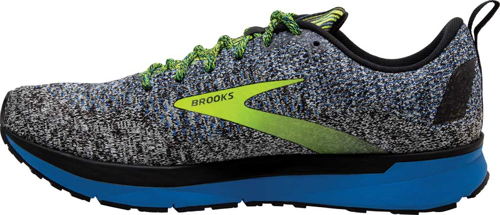 Men's Brooks Revel 4 Running Shoe, Black/Blue/Nightlife, large, image 3
